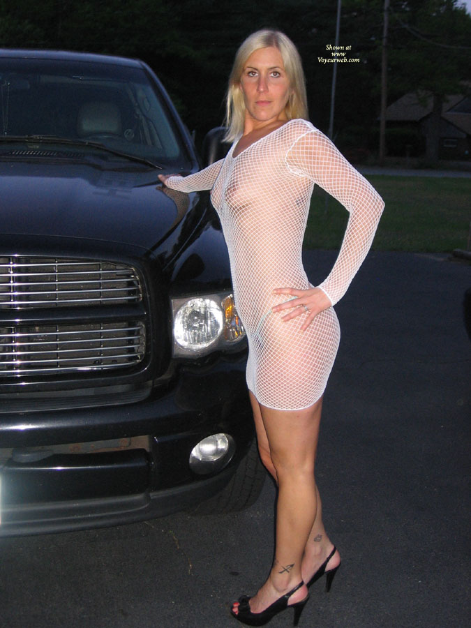 New White Dress , We Were Going To A Club In Providence And My Hubby Wanted Me To Wear This Dress, Lots Of Looks But You Only Live Once So I Did It, Check Out My Tit Flashes As Well, And Please Do Not Forget To Comment We Love Reading Them