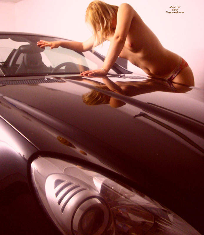 Pic #1 - Nude Girl Reflected In Polished Car - Blonde Hair, Small Tits, Topless, Naked Girl , Smoth Lines, Topless Wife, Short Blond Hair, Nude Girl And A Car, Hot Car, Fast Girl