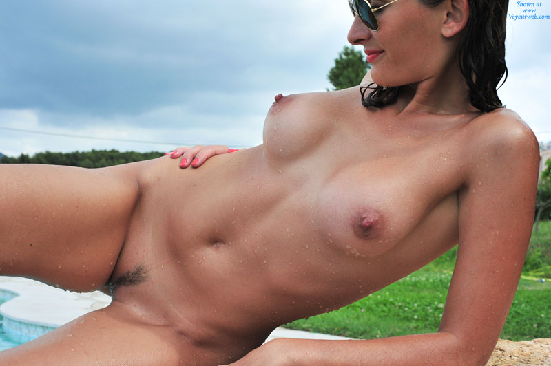 French nude beach erection