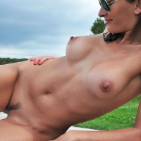 Nude French Milf Wet Outdoor - Brown Hair, Erect Nipples, Firm Tits, Landing Strip, Milf, Sunglasses, Trimmed Pussy, Naked Girl, Sexy Figure, Sexy Wife