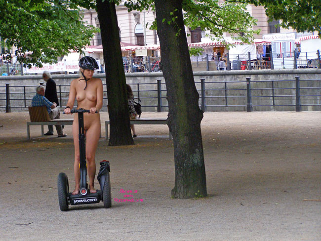 Pic #1 - Naked Girl Riding Segway In Public - Exhibitionist, Flashing, Perfect Tits, Bald Pussy , Sexy Breasts, Naked Chariot Rider, Naked Segway, Tight Body, Street Voyeur, Nude Rider, Naked Day Rider