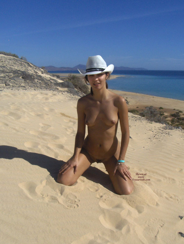 Pic #1 - Hat Only , Hot Summer Day In A Wonderful Beach Fuerteventura (spain), I Just Needed My Hat