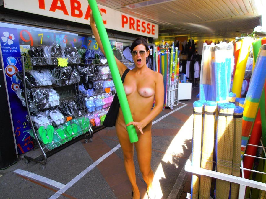 Nudist Girl Shopping Long Pool Toy - Black Hair, Long Legs, Naked Girl, Nude Amateur, Sexy Legs , Shopping Naked, Nude Girl Playing With Erect Toy, Shopping For Toys, Nudist Wife Likes The Size, Sexy Long Legs, Sun Glasses, Tanlined Tits, Tanlines