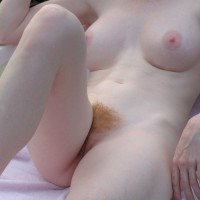 Redheaded Beaver - Pale Skin, Pubic Hair, Red Hair, Nude Wife