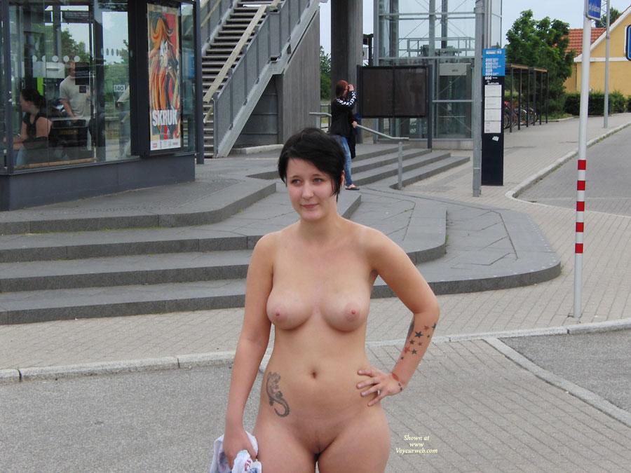 White Naked Danish Girl In Denmark Kitchen