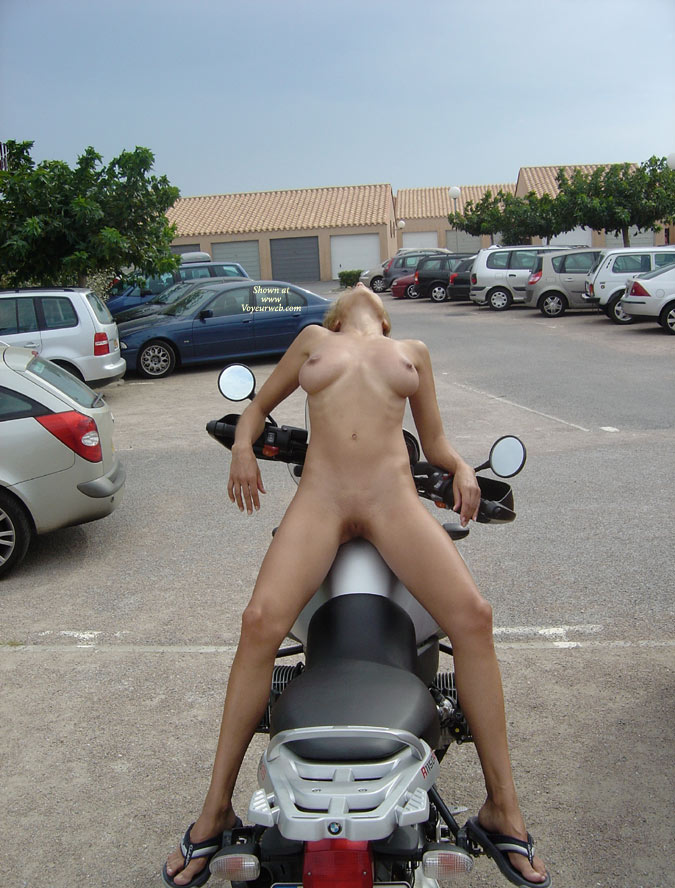 Girl On Bike - Perfect Tits, Spread Legs, Hairless Pussy, Nude Wife , Nude On Bmw, Reverse Cowboy Rider, Tight Body, Sexy Red Snapper, Kitty On A Hog, Ready For A Fast Ride
