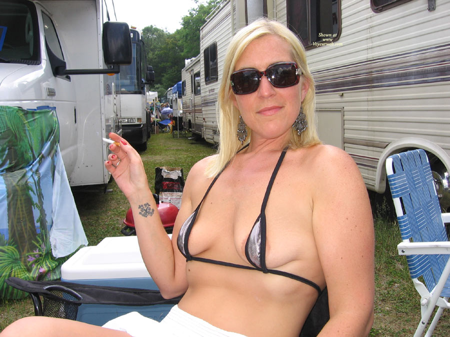 Pic #1 - At A Concert & More , We Went To A Concert And Had A Little Fun Before The Show, Can You Guess What Show. I Added A Few At The End, A Couple From After The Show And One Of Me In My New Bikini On The Beach. I Hope My Fans Enjoy This Set, No Worries I Am Working On A Redclouds