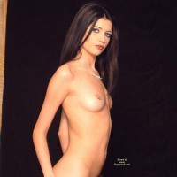 Erotic And Exotic Nude - Dark Hair, Erect Nipples, Small Tits, Naked Girl