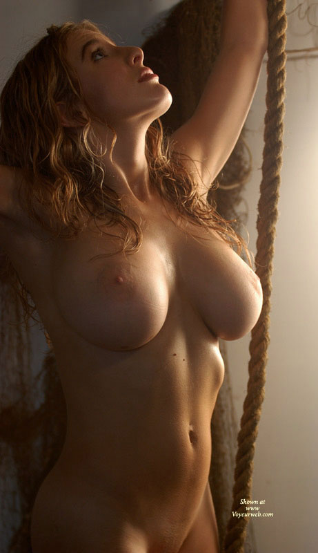 Pic #1 - Fabulous Tits - Nude Amateur , Big Breasts, Round And Red, Large Boobs, Facing Camera, Stretching Skyward, Arms Reaching Up, Reaching For The Stars, Classic Nude Torso, Arms Raised, Large Tits, Old Rope, Massive Tits