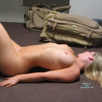 Lying On Floor - Erect Nipples