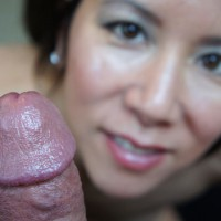 *JO Shaved Asian Swallowing Cum