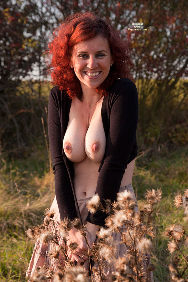 Pic #1 - A Smile And Boobs - Erect Nipples, Hard Nipple, Huge Tits, Milf, Topless , Redhead Topless Wife, Dimpled Nipples, Redhead With Big Boobs, Topless Wife, Smiling Red Head, Sexy Milf In The Woods, Redhead Milf, Big Red Nipples, Big Smile, Voluptuous Milf, Breast Pressed Together, Extreme Clevage, Super Hard Nipples, Tits Outdoors