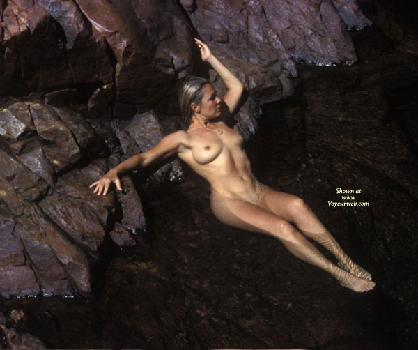Pic #1 - In The Water - Erect Nipples, Nude Outdoors, Water , In The Water, On The Rocks, Blonde In Water, Erect Nipples, Cooling Pussy