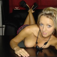 Table Pose - Erect Nipples, Fun