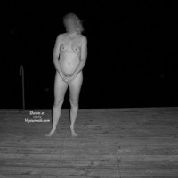 Wife On The Dock At Night