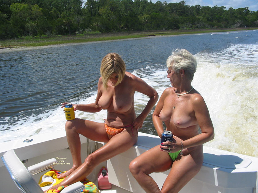 Pic #1 - Jilli's Boat Ride , Hi Guys, We Just Got Back From A Deep Sea Fishing Trip In The Atlantic. We Were On Our Way Back To Port And Our Husbands Asked Our Guide If He Would Mind If They Took Some Pictures Of Us Girls Nude. He Said Hell Yes. After A Few Beers Things Got A Little Wilder But That's Another Conti. Hope You Enjoy Hugs Jilli