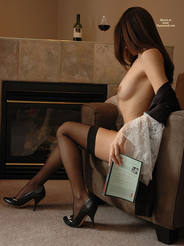 Pic #1 - Great Nude Photography - Heels, Long Legs, Perfect Tits, Perky Tits, Small Tits, Stockings, Nude Amateur , Leg Shot, Sexy High Heels, Sitting In An Armchair, Long Silky Legs, Brown Nips On Perky Tits, Thigh Highs, Small Perky Tits, Medium-sized Breast, Black Thigh High Stockings