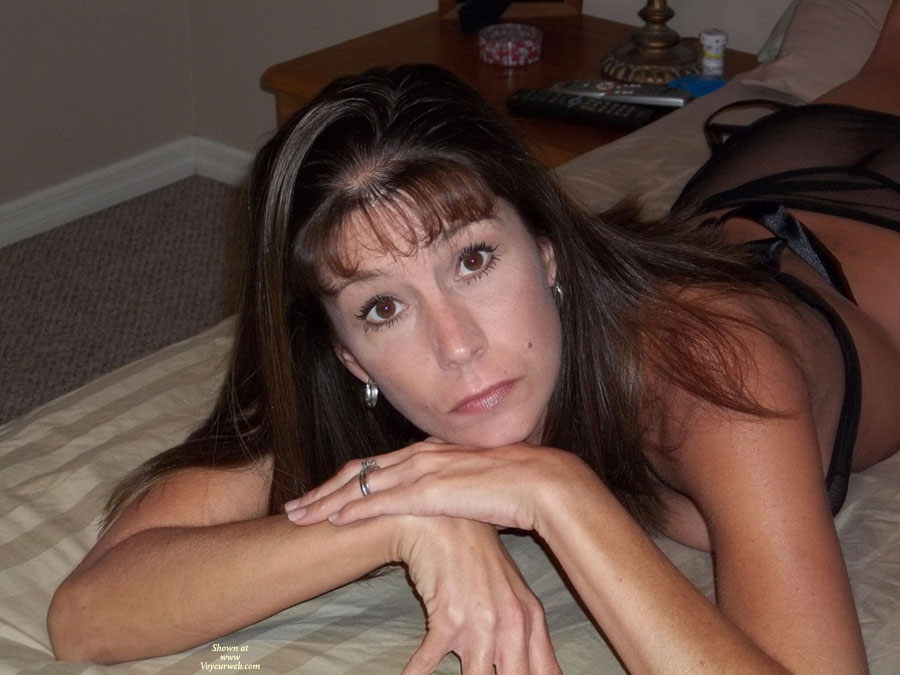 Pic #1 - Fishnet Flirt , Wanted To Show Off My Sexy Wife To The World. We Have Posted On The Bulletin Boards Before But This Is Our First Try At This. She Is A Hot Ass 41 Year Old Mother Of 4.
