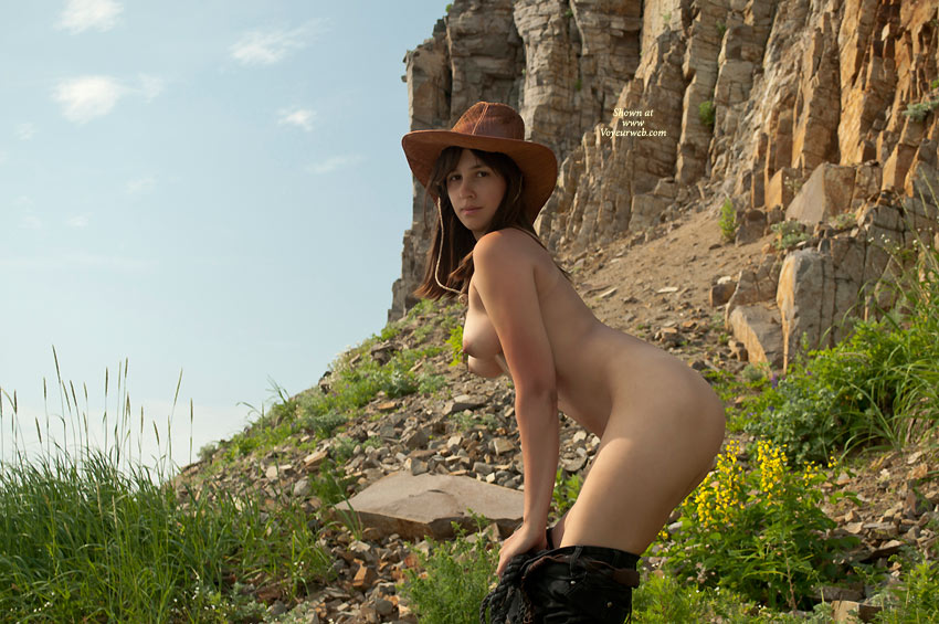 Topless Cowgirl Pulling Pants Down - Brunette Hair, Erect Nipples, Long Hair, Topless, Naked Girl, Nude Wife , Gorgeous Tits, Nude Girl With Hat, Cliff Hang Out, Brunette Long Hair, Nude, Nude Wife On Heels, Arched Back, Bending Over