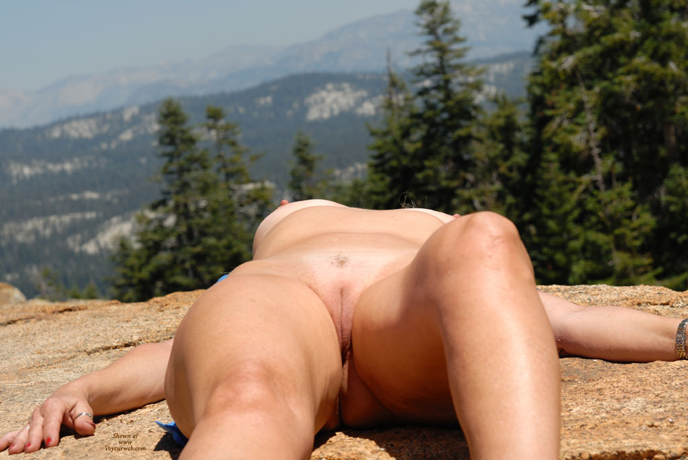 Pic #1 - Naked Girl Lying On Rock - Bald Pussy, Hairless Pussy, Sexy Legs , Mountains, Hills & Valleys, Tan On The Rocks, Amateur Photos, Nice View, Naked On A Rock, Crotch Shot, Nude Outdoors, Open Legs, Sexy Smooth Snatch, Hairless Pussy Lips, Gorgeous Smooth Cunt Lips