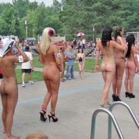 Line Of Naked Girls At Nudes A Poppin 2011