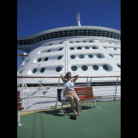 Naked In Front Of Cruise Ship's Bridge