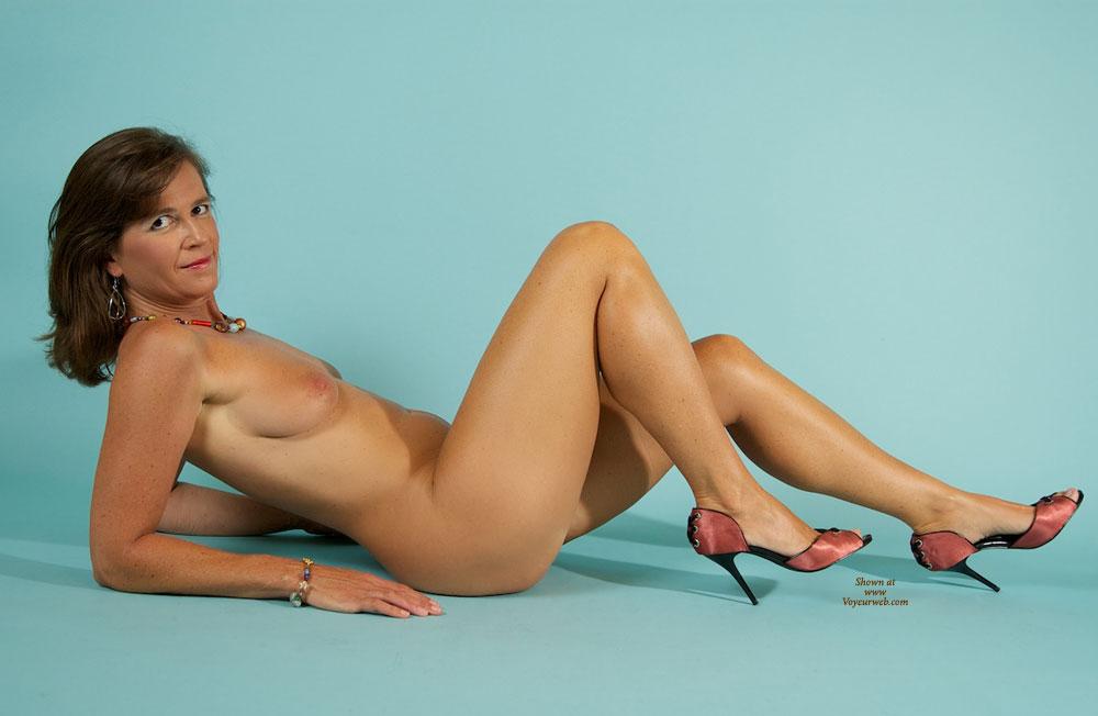 image Delightful blonde milf fucked hard on the massage table