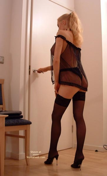 Pic #7 - Amateur Babe Stockings And Seethru Top