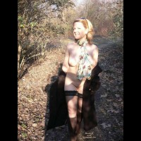 Wife Flashing Pic - Flashing, Nude Outdoors, Looking At The Camera, Naked Girl, Nude Amateur