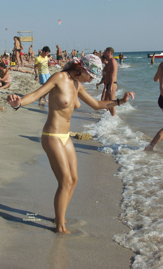 Pic #1 - Kazantip Topless 3 , Another Set Of Topless Girls From Kazantip.