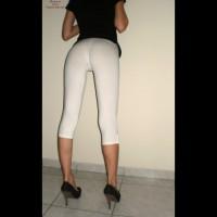 White Leggings & Heels