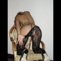 Crotchless Lace Panyhose - Heels