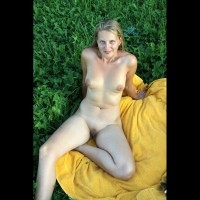 Blonde With Bald Pussy Nude Outdoor - Blonde Hair, Nude Outdoors, Shaved Pussy, Spread Legs, Bald Pussy, Naked Girl , Nude Outdoors On A Towel, Nude Posing Outdoors, Large Areola, Natural Body, Round Tits, Exposed Clit Hood