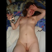 Drunk Nude MILF - Dark Hair, Landing Strip, Milf, Shaved Pussy, Naked Girl, Nude Amateur