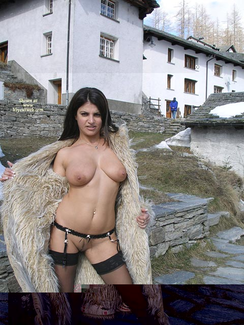 Pic #1 - Tough Broad - Big Tits , Tough Broad, Big Breasts, Stockings And Garters, On The Street