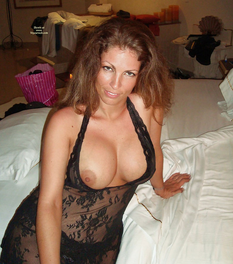 Small breated milf in satin