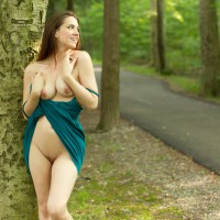 Brunette Flashing Pussy And Tits - Brunette Hair, Erect Nipples, Flashing, Bald Pussy, Naked Girl