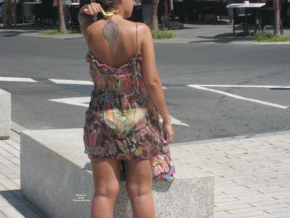 Pic #1 - What I Saw , Just A Tourist Who Knew I Was Taking Her Pics, Thats Why She Posed For The Second Pic.