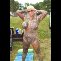 Grossly Tattooed Lady At Nap 2011