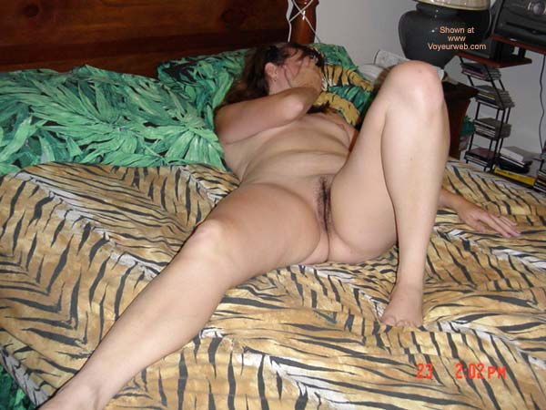 Pic #3 - Wife In Tiger Bed