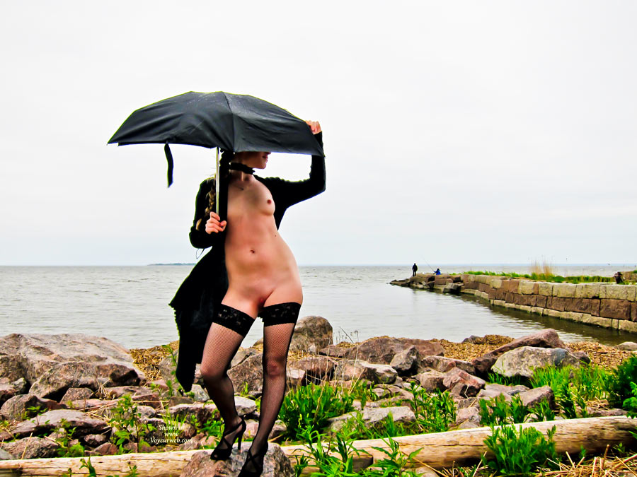 Pic #1 - Rainy Day Nude With Black Stockings - Flashing, Heels, Nude In Public, Shaved Pussy, Small Tits, Stockings, Bald Pussy, Naked Girl , Small Nipples, Standing Nude With Umbrella, Pink And Inviting, Sexy Snatch, High Heels Sandals, Umbrella, Public Nude, Pussy Flashing Nympho, Long Black Spike Heels