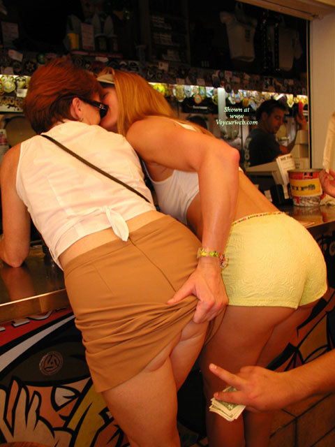 Pic #1 - Ass Grab - Milf , Women Kissing, Two Cute Asses, Milf Lesbians, Short Shorts, Girl Groping Girl's Ass, Two Girls Kissing, Older Women Gone Wild, White Tank Top, Butt Flash., Two Flirty Women