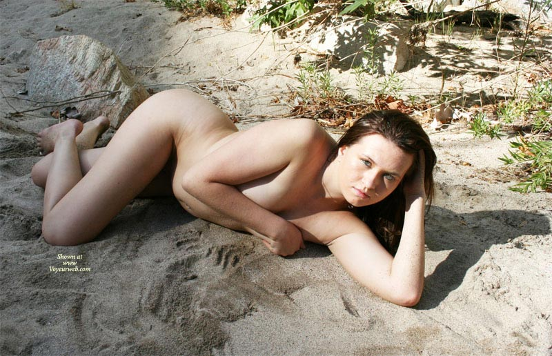 Pic #1 - Nude Girl Hiding Her Tits - Naked Girl , Nude Woman On The Beach, Nude Friend, Covering Her Breasts