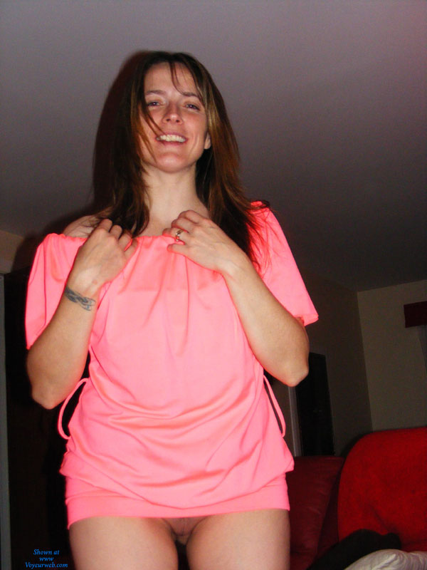 Pic #1 - My Sexy Brunette Wife , Night Of Fun At Home