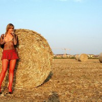 Farmer's Hot Daughter - Blonde Hair, Long Legs