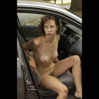 Naked Hike ! - Big Nipples, Brown Hair, Exhibitionist, Hairy Bush, Hard Nipple, Tattoo