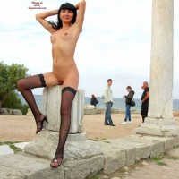 Outdoor Nudity - Heels, Nude In Public, Shaved Pussy, Stockings, Naked Girl
