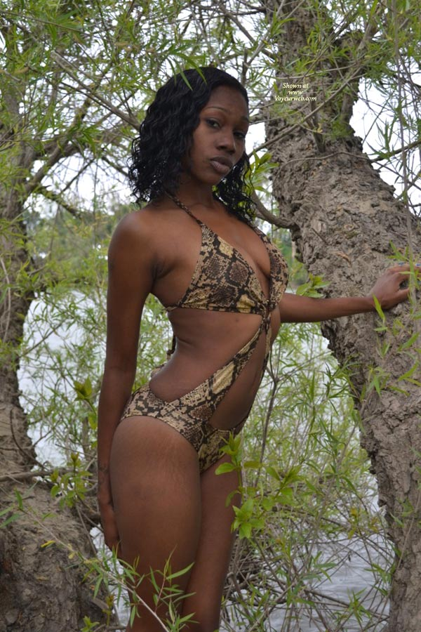 Pic #1 - Sexy Ebony Kelli , Just Down By The River For Some Fun.