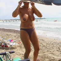 Topless Beach Sexy Mother