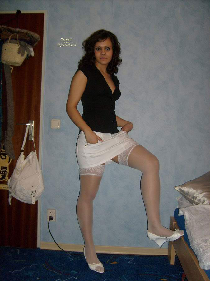 Pic #1 - White Stockings , Just Some Pics Of My Ex